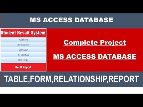 HOW TO CREATE MS ACCESS DATABASE PROJECT FOR STUDENTS(Complete Project)