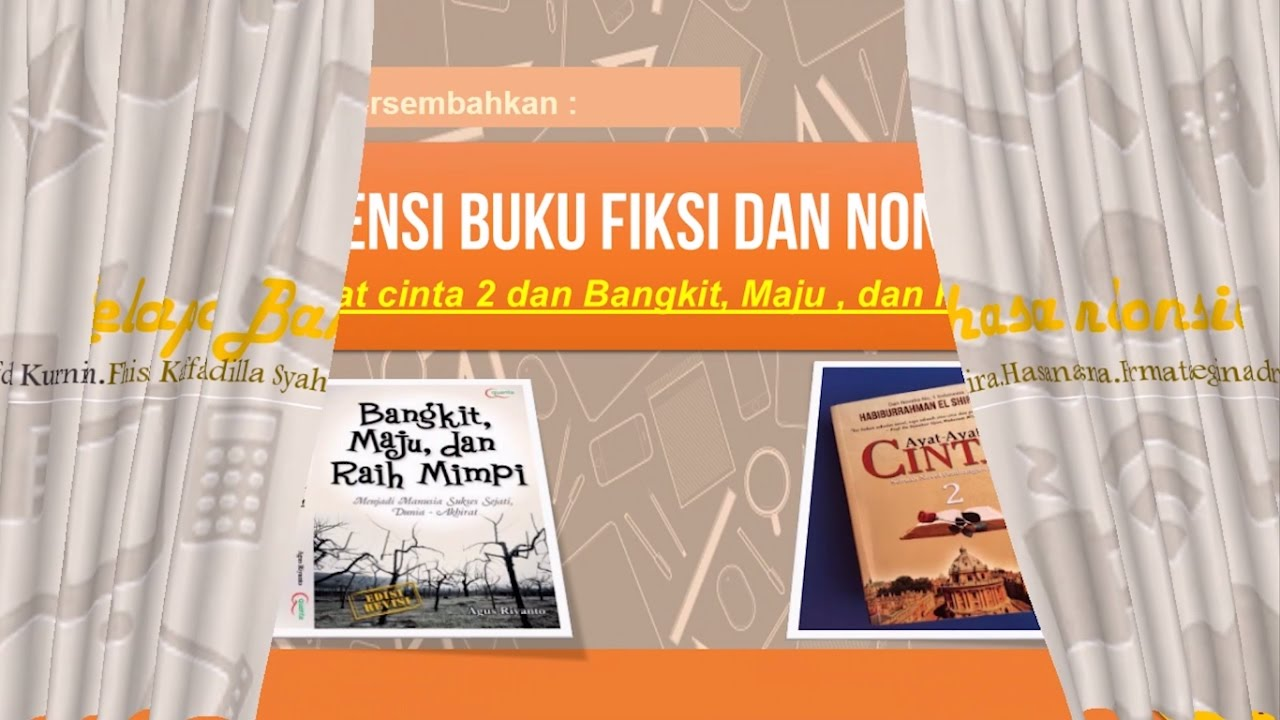 Video And Slide Resensi Buku Fiksi Dan Non Fiksi Youtube