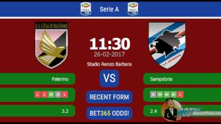 Palermo vs Sampdoria PREDICTION (by 007Soccerpicks.com)