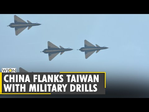 China flanks Taiwan with military exercises in air and sea | South-China Sea | Latest English News