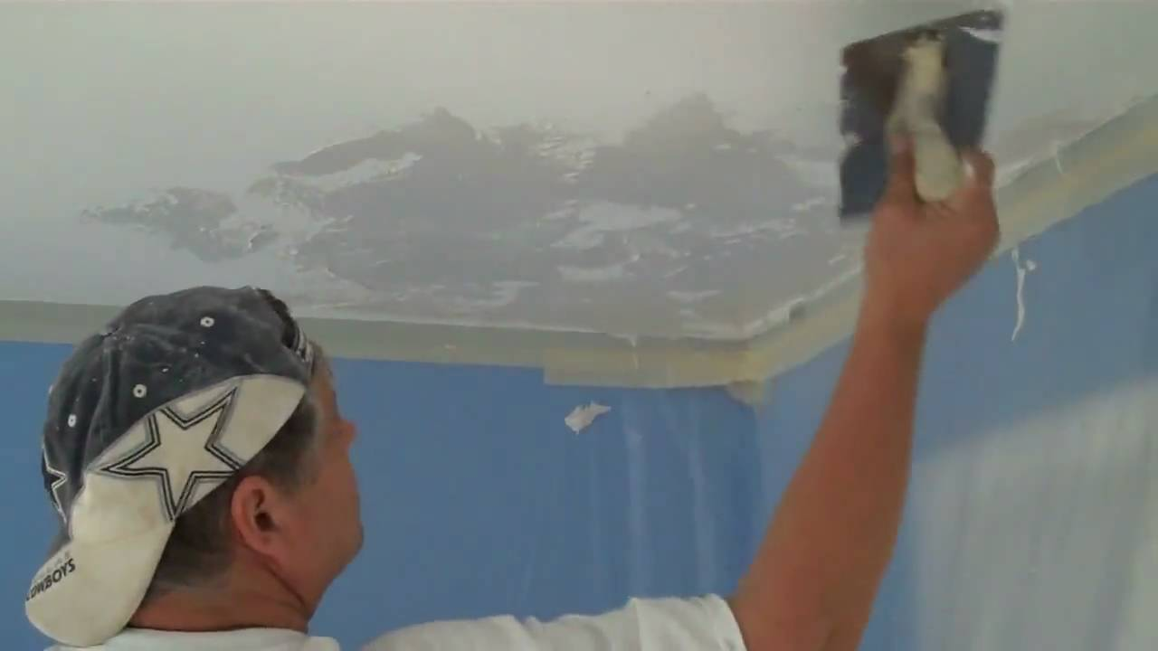 Knock Down Ceiling Texture Skip Trowel Texture Paintingtampabaycom Youtube