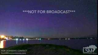 07-16-2017 Bailey's Harbor, Wisconsin Stunning Aurora Borealis/Northern Lights Timelapse