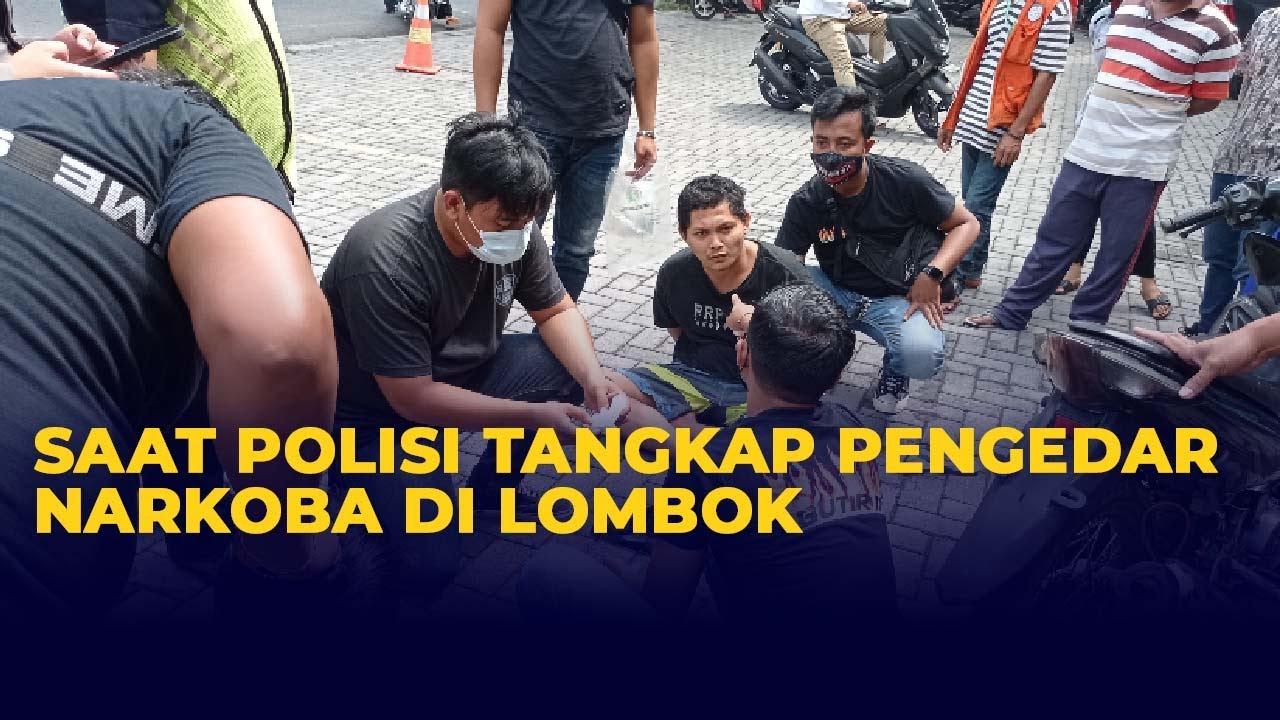 Download Momen Polisi Tangkap Basah Pengedar dan Pembeli Narkoba di Mataram