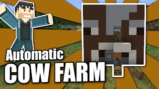 Minecraft PS4 - AUTOMATIC COW FARM - Tutorial ( PS3 / XBOX / WII U / PE )