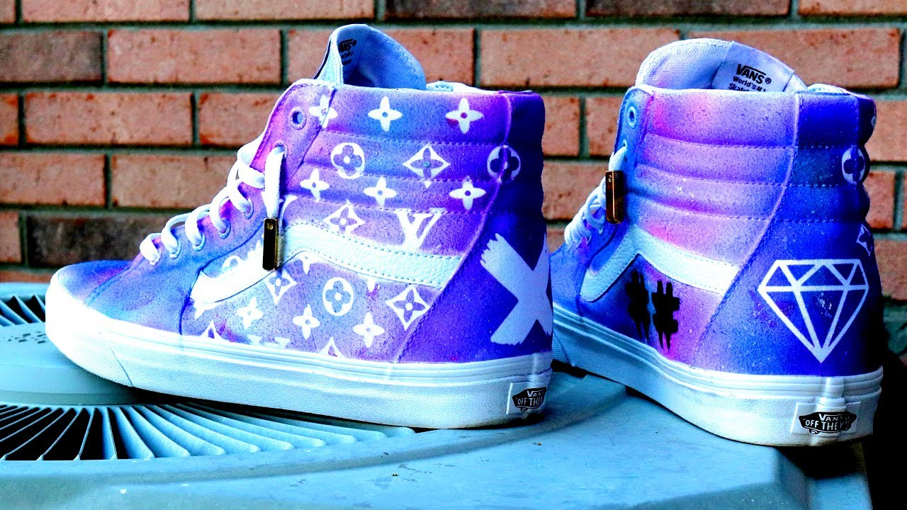 How To Custom Louis Vuitton HI SK8 Vans