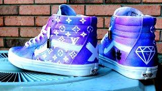 How To: Custom Louis Vuitton HI SK8 Vans | On Foot | RichyCustoms