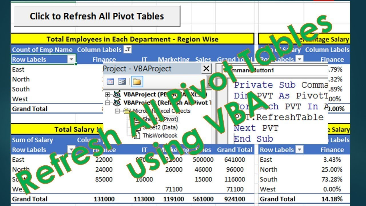 Vba to update all pivot tables excel vba programming example by vba to update all pivot tables excel vba programming example by exceldestination ibookread Read Online