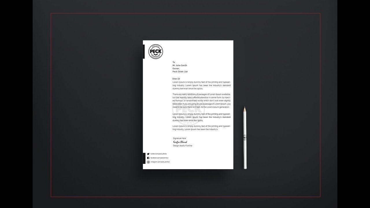 how to make a letterhead template in word design in adobe