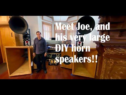 Meet Joe, and his amazing DIY horn speakers