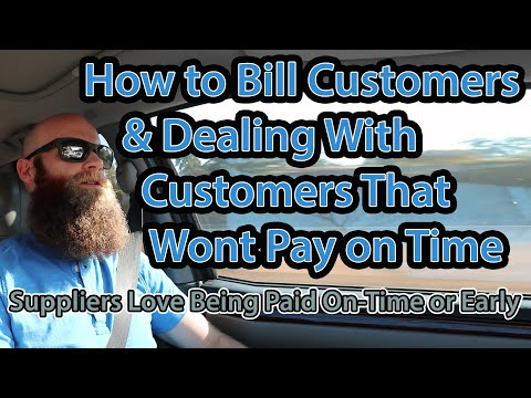 How To Bill Customers & Dealing With Past Due Invoices