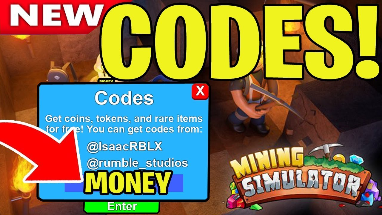 All New Mining Simulator Codes Working 2019 Roblox New Youtube