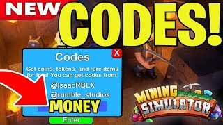 ALL NEW MINING SIMULATOR CODES WORKING 2019 (ROBLOX) *NEW*