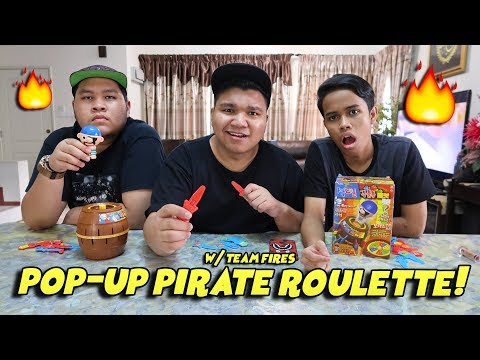 Pop-Up Pirate Roulette Challenge! w/ Ukiller & Joew (Malaysia) - Running Man Game!