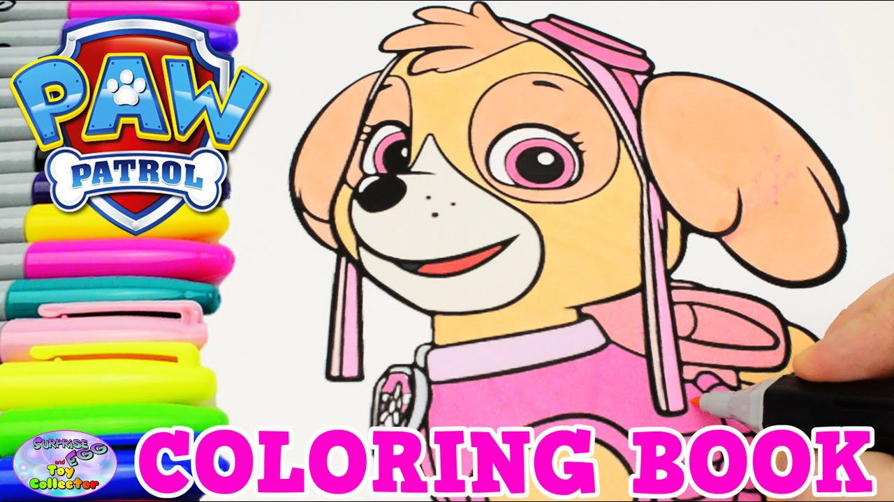 Paw Patrol Coloring Book Skye Episode Show Surprise Egg And Toy Collector SETC