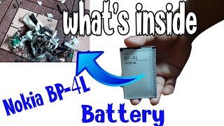 What s Inside Nokia BP 4L Battery Nokia Old Model Mobile Battery