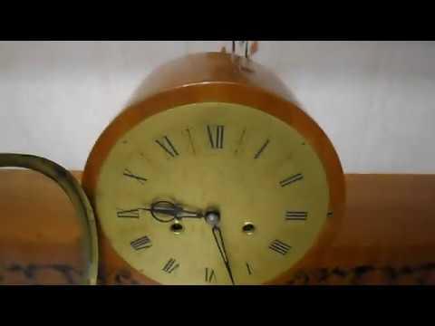 Огромные каминные часы Янтарь сбоем в идеальном состоянии