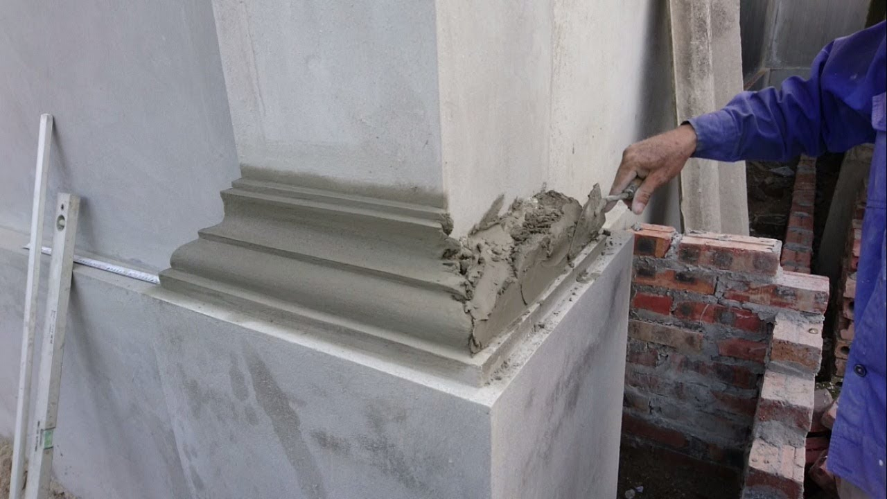Amazing Construction Rendering Sand And Cement To The