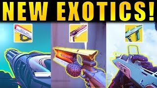 Destiny 2: NEW EXOTIC WEAPONS GAMEPLAY!