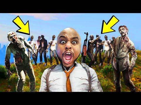 Survive The ZOMBIE APOCALYPSE In GTA 5! |