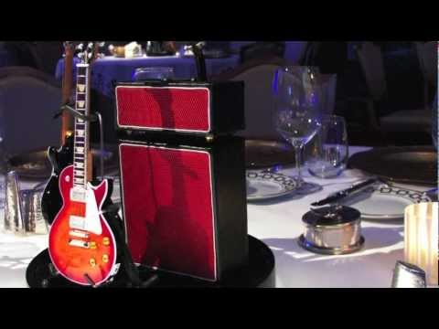 Guitar Centerpieces & Event Decorations by AXE HEAVEN