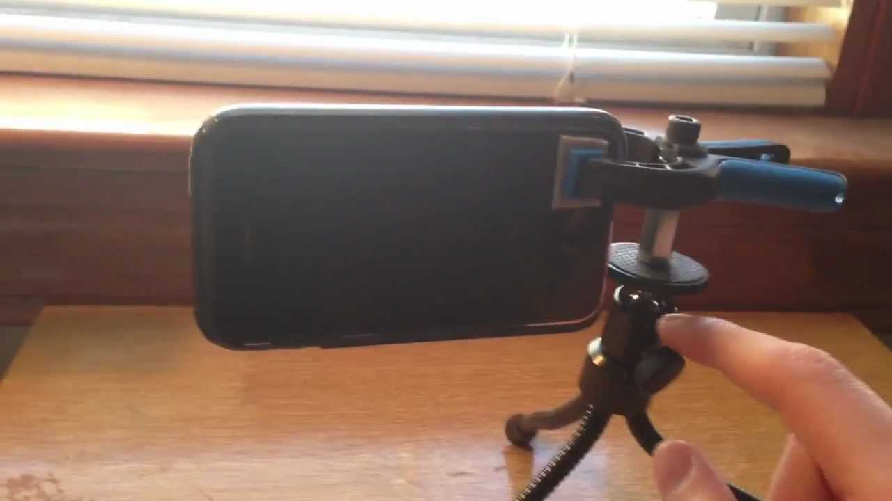 Diy smartphone tripod mount easy to build iphone 5 tr for Diy tr