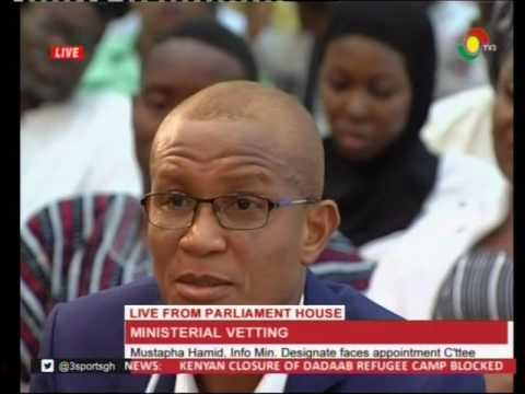 Mustapha Hamid Info Min. Designate faces appointment C'ttee - 9/2/2017