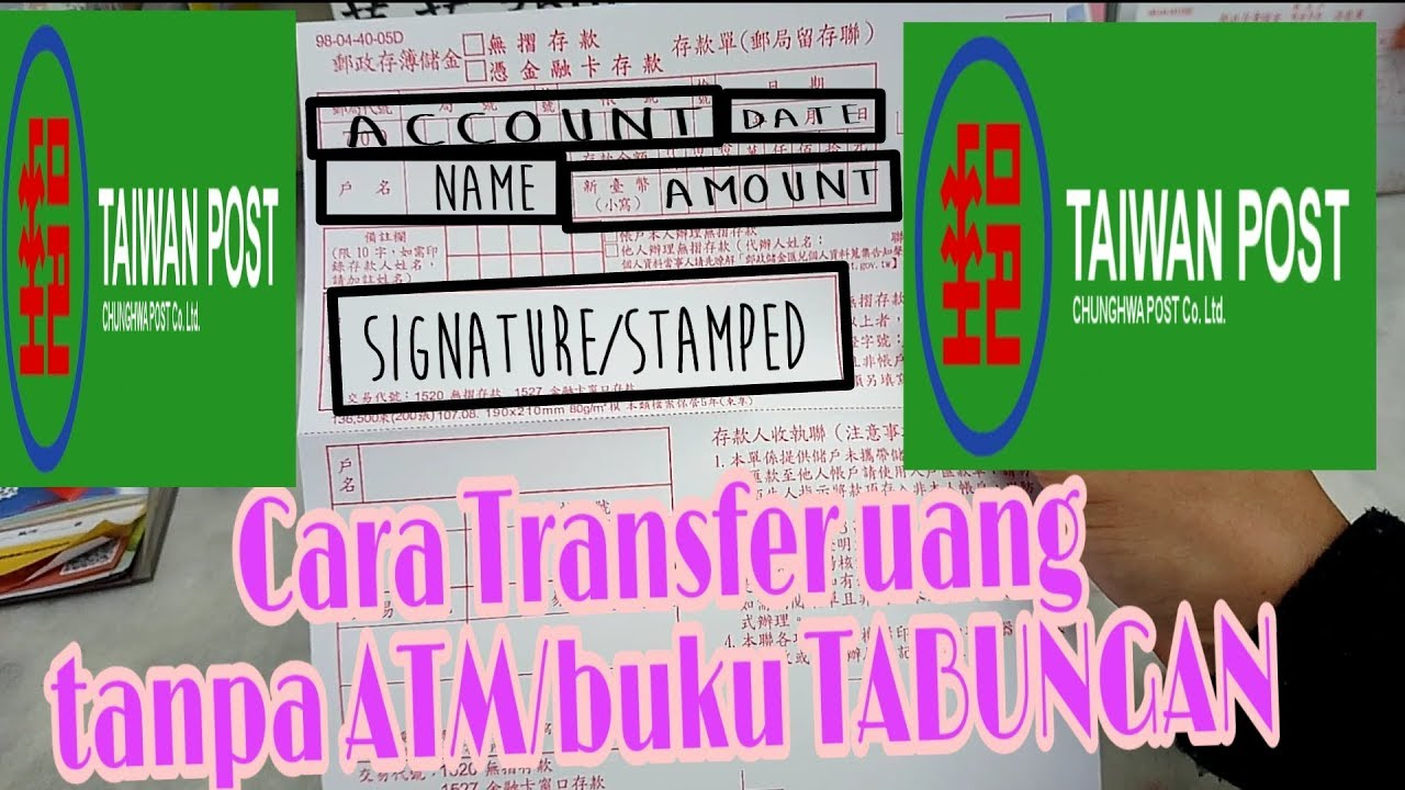 How To Transfer Money At The Post Office Taiwan
