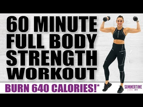 60 Minute Full Body Strength Workout ��Burn 640 Calories!* ��Sydney Cummings