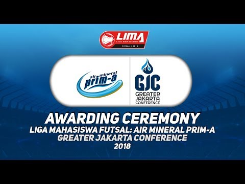 AWARDING CEREMONY LIMA FUTSAL : AIR MINERAL PRIM-A GREATER JAKARTA CONFERENCE 2018