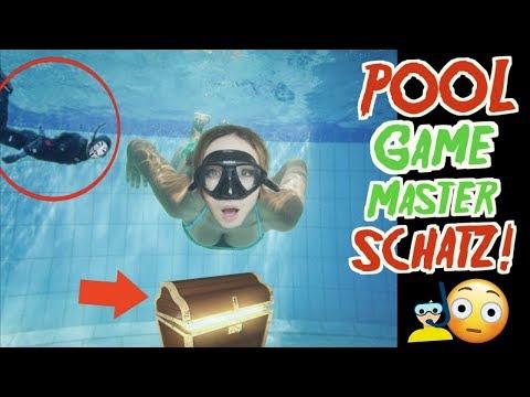 SUCHE POOL SCHATZ vom GAME MASTER mit TAUCHEN unter Wasser