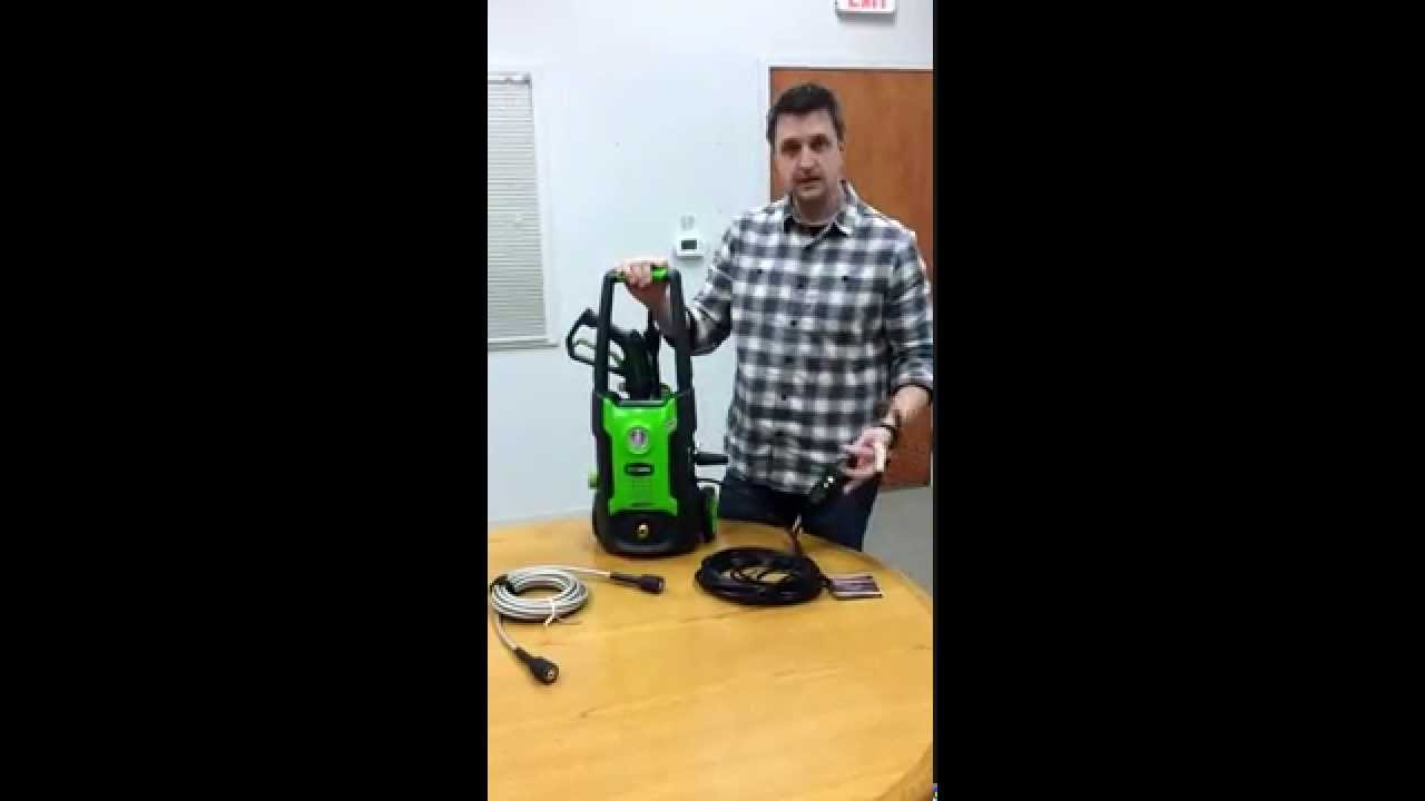 Greenworks 1600 Psi 12 Gpm Electric Pressure Washer Youtube Earthwise Wiring Diagrams