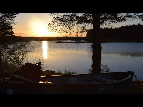 Wild Camping Scotland. Canoe Camp. Sunset. Outdoor Cooking. Bushcraft