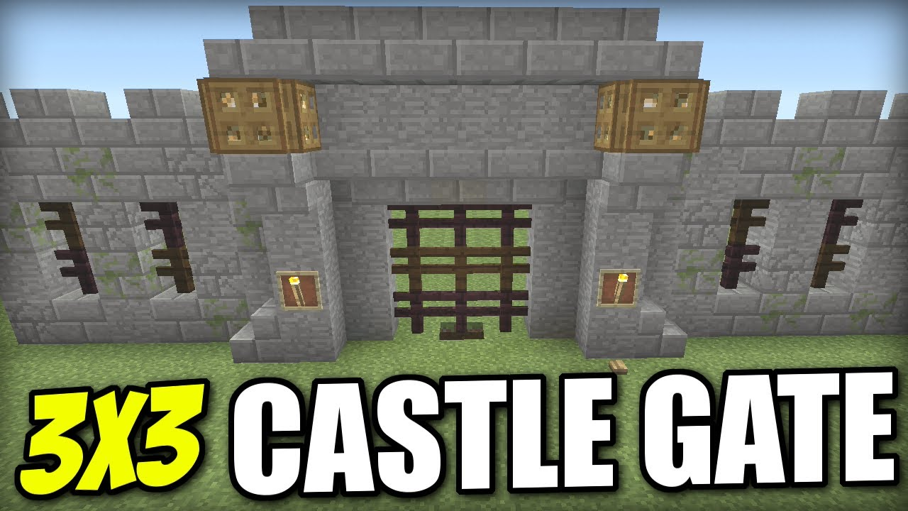 how to build a castle in minecraft ps4