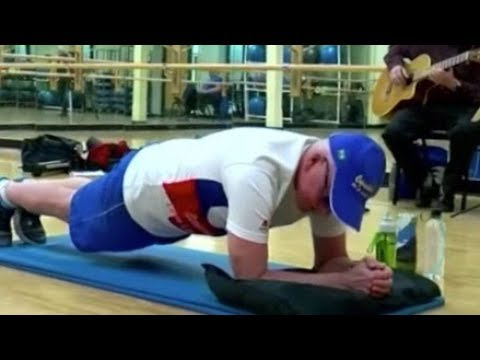 Tony Sandoval on The Breeze - 71-year-old Cancer Survivor Breaks World Record for Planking!!