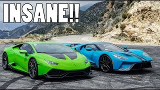 2018 FORD GT vs 800bhp LAMBORGHINI HURACAN!!