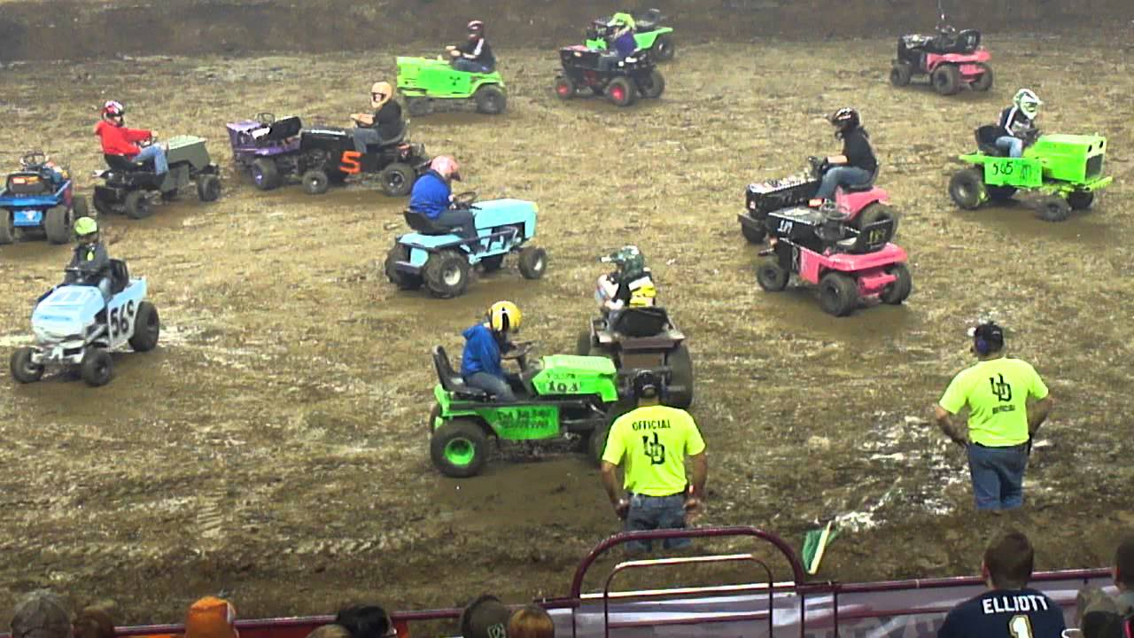 Blizzard Bash Kids Lawn Mower Derby 11 16 13 Youtube