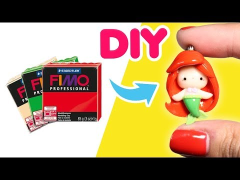 DIY - HOW TO MAKE THE LITTLE MERMAID WITH CLAY