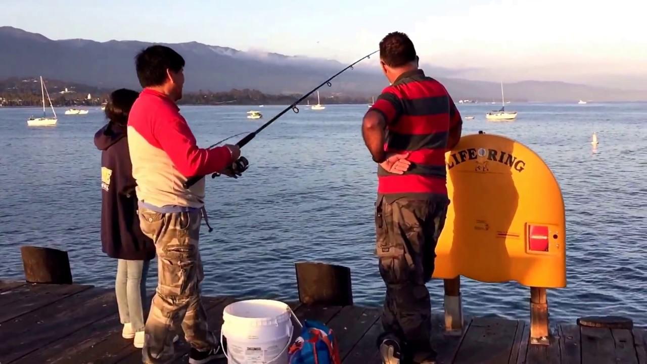 Santa Barbara Beach Weekend - Fishing - YouTube