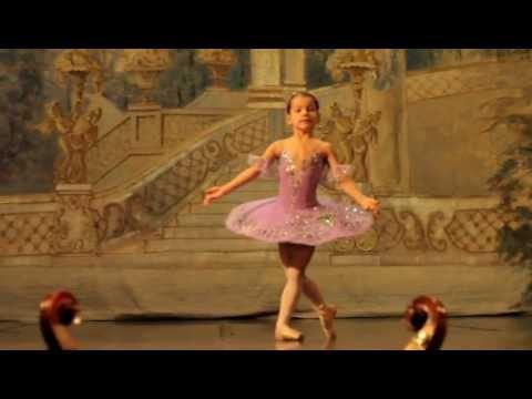 Sleeping Beauty Lilac Fairy variation. Six-year ballet dancer - Alexandra Chernenko.