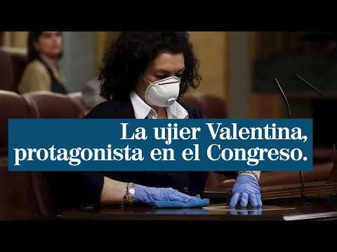 """""""Grazas, Valentina"""", o recoñecemento de Pedro Sánchez á limpadora do Congreso"""