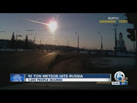 Close encounter with a meteor