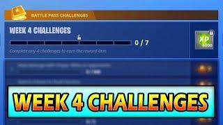 Fortnite WEEK 4 Challenges *LEAKED* Season 5 (Battle Star)