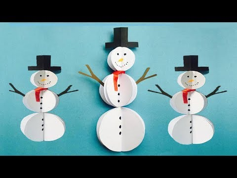 DIY Paper Snowman Craft | Easy Snowman Making Ideas | Winter Crafts