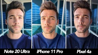 Note20 Ultra vs Pixel 4a vs iPhone 11 Pro Camera Comparison! Which Is Best?