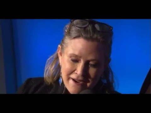 Carrie Fisher Swears Again Live On Air - Star Wars The Force Awakens European Premiere Red Carpet