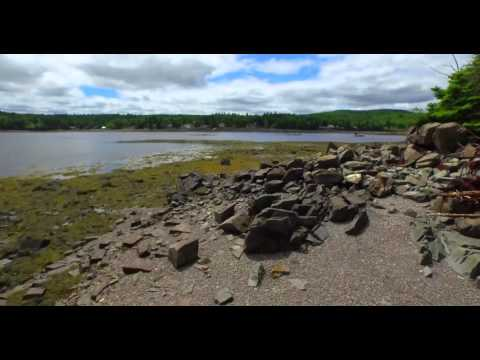 Aerial Footage of St.Andrews New Brunswick 4k.