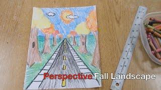 Kids Art Project - Fall Landscape