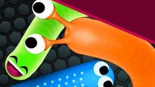 Slither.io MINHOCA IMORTAL (immortal worm) #19 - The Biggest Snake