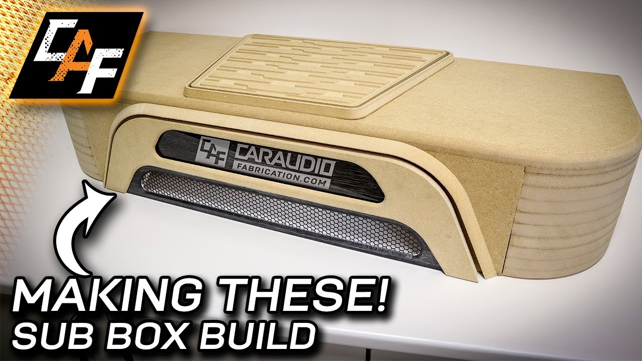 How To Build A Sub Box >> Downfiring Subwoofer Box Build Making Inserts