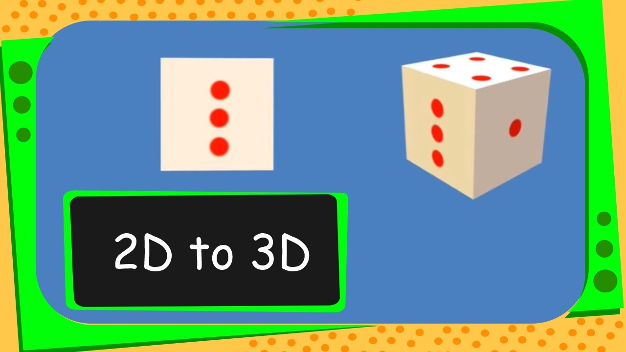 Maths - How to get 3D Shape from 2D Shapes - English - YouTube
